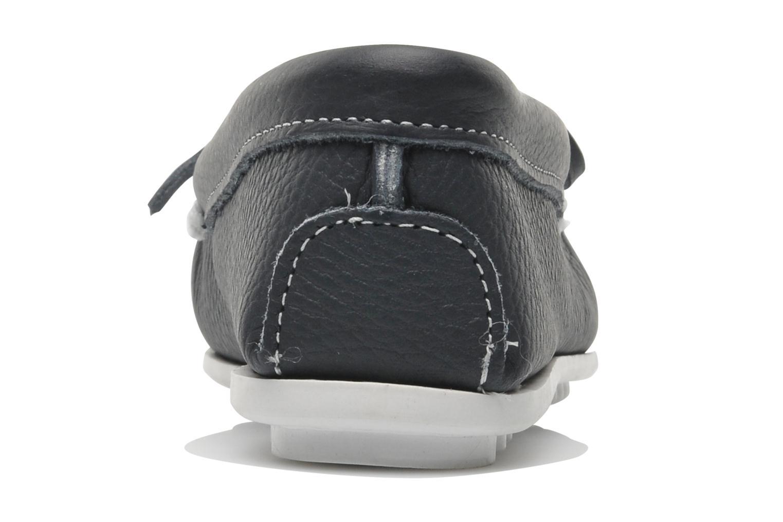 Loafers Minnetonka Cut out leather moc Blå Bild från höger sidan