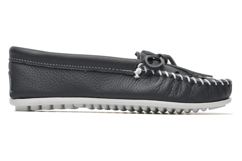 Loafers Minnetonka Cut out leather moc Blå bild från baksidan