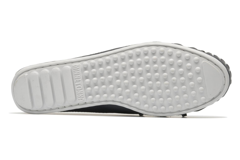 Loafers Minnetonka Cut out leather moc Blå bild från ovan