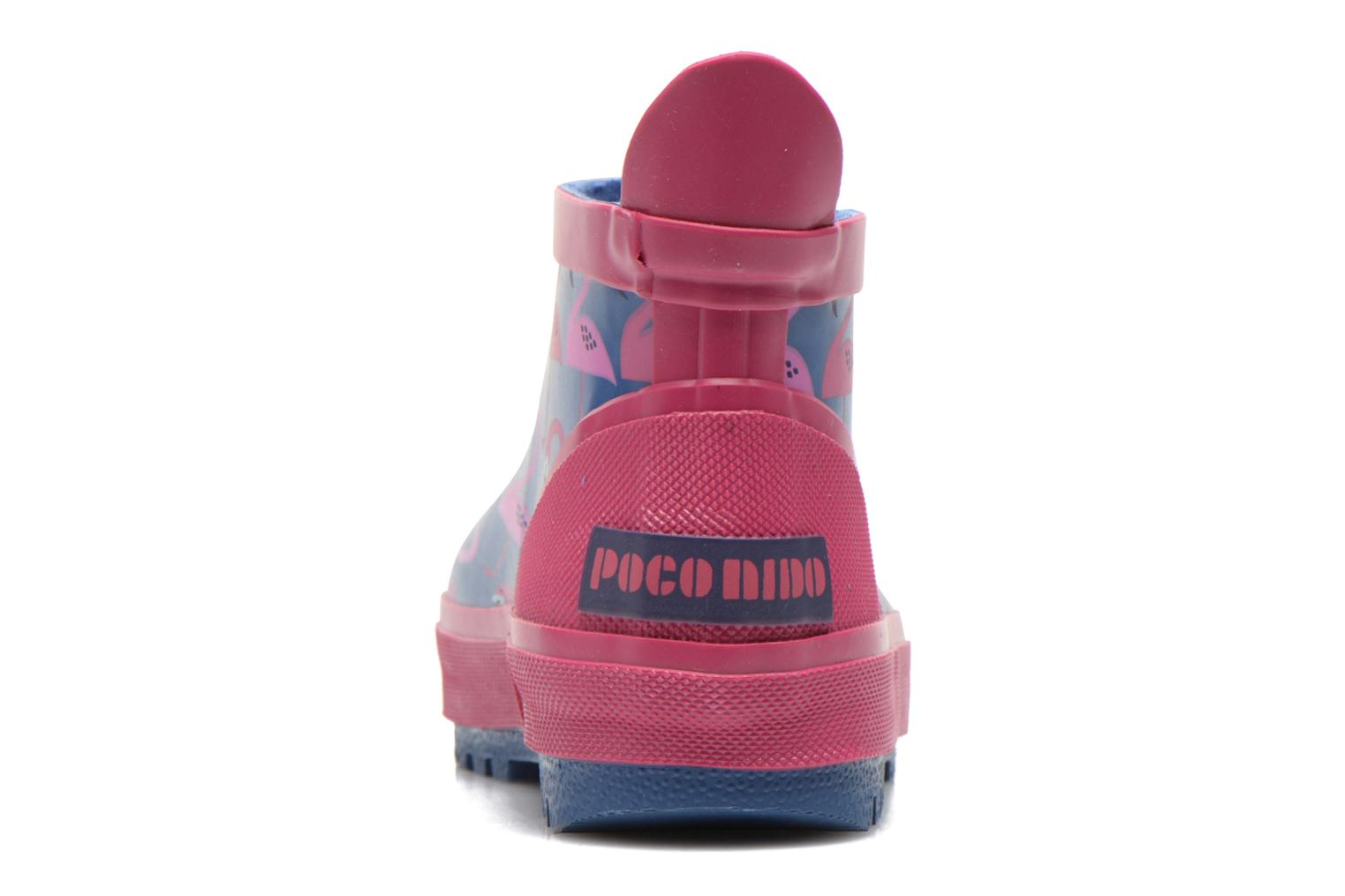 Slippers Poco Nido FLAMINGO Blue view from the right