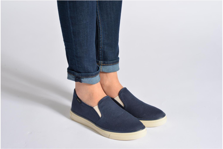 Sneakers Esprit Yendis slip on 040 Blauw onder