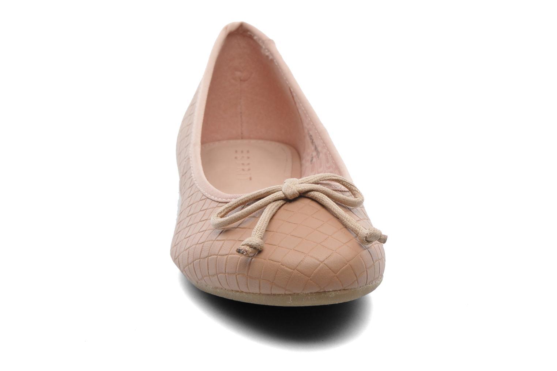 Ballerines Esprit Karen Woven 007 Rose vue portées chaussures