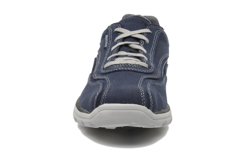 Sneaker Skechers Superior Monavo 64362 blau schuhe getragen
