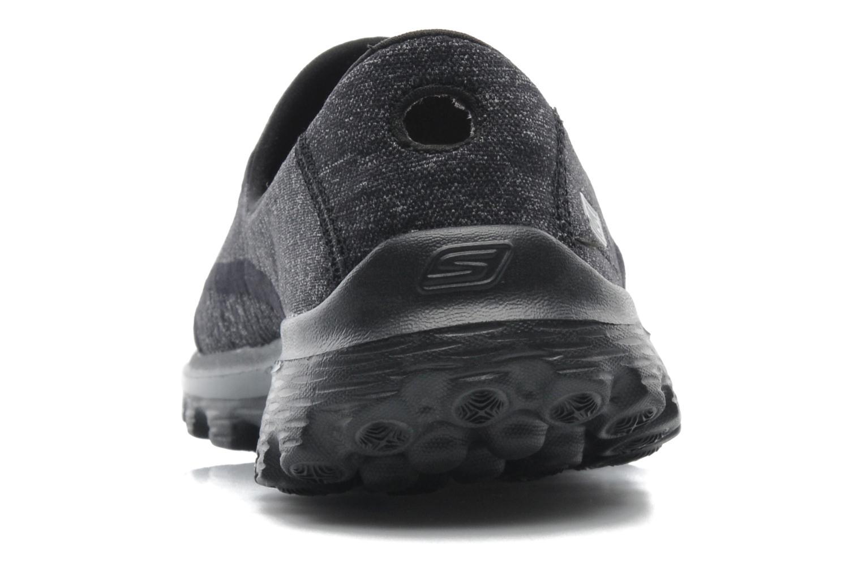 Sneaker Skechers Go Walk 2 Super Sock 13955 schwarz ansicht von rechts