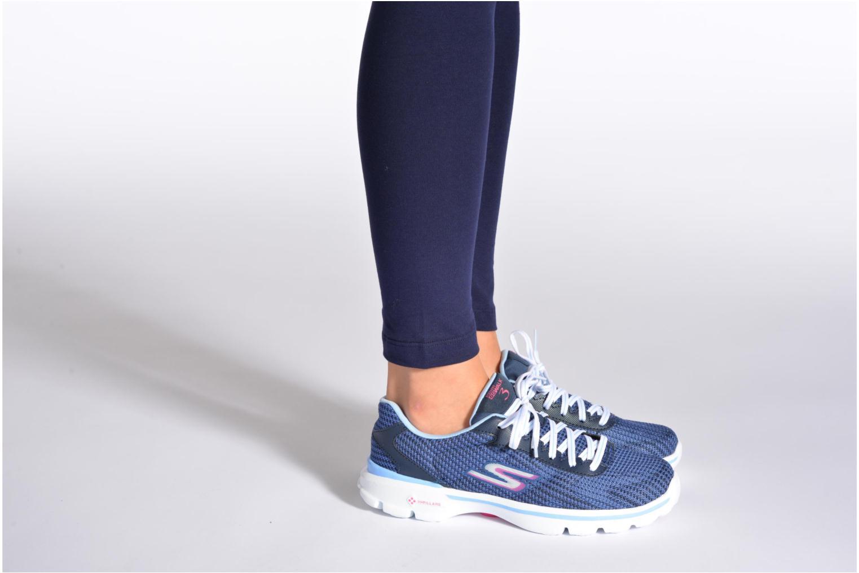 Sneaker Skechers Go Walk 3 FitKnit 13981 schwarz ansicht von unten / tasche getragen