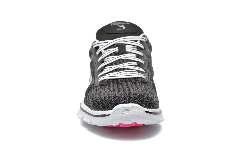 Go Walk 3 FitKnit 13981 Black White