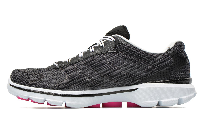 Sneaker Skechers Go Walk 3 FitKnit 13981 schwarz ansicht von vorne