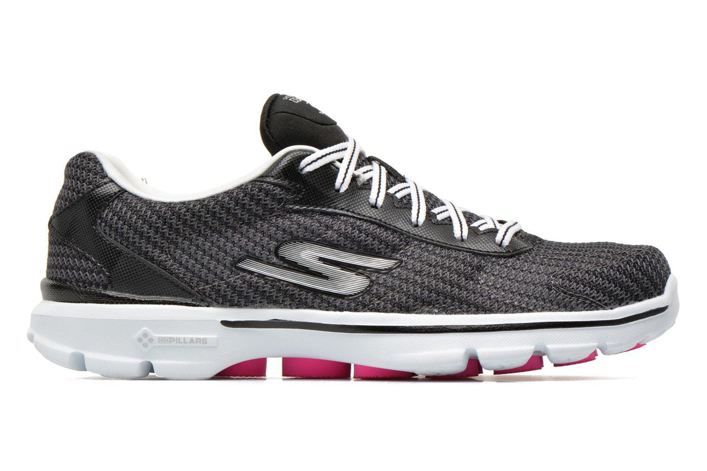 Sneaker Skechers Go Walk 3 FitKnit 13981 schwarz ansicht von hinten