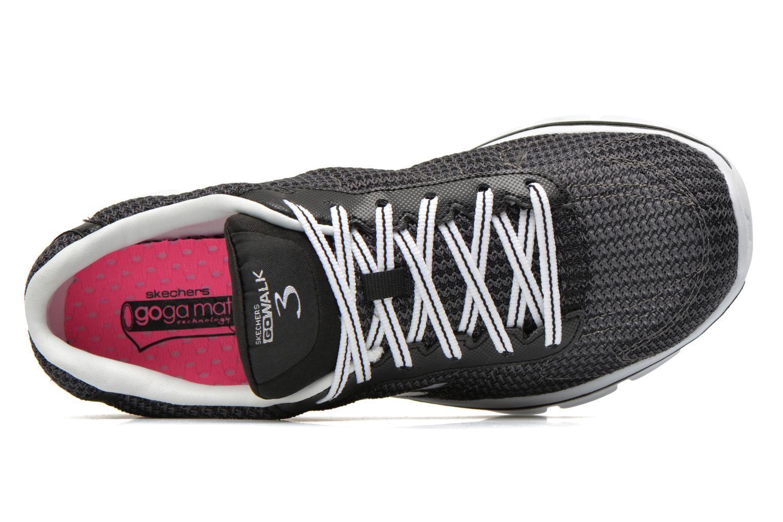 Sneaker Skechers Go Walk 3 FitKnit 13981 schwarz ansicht von links