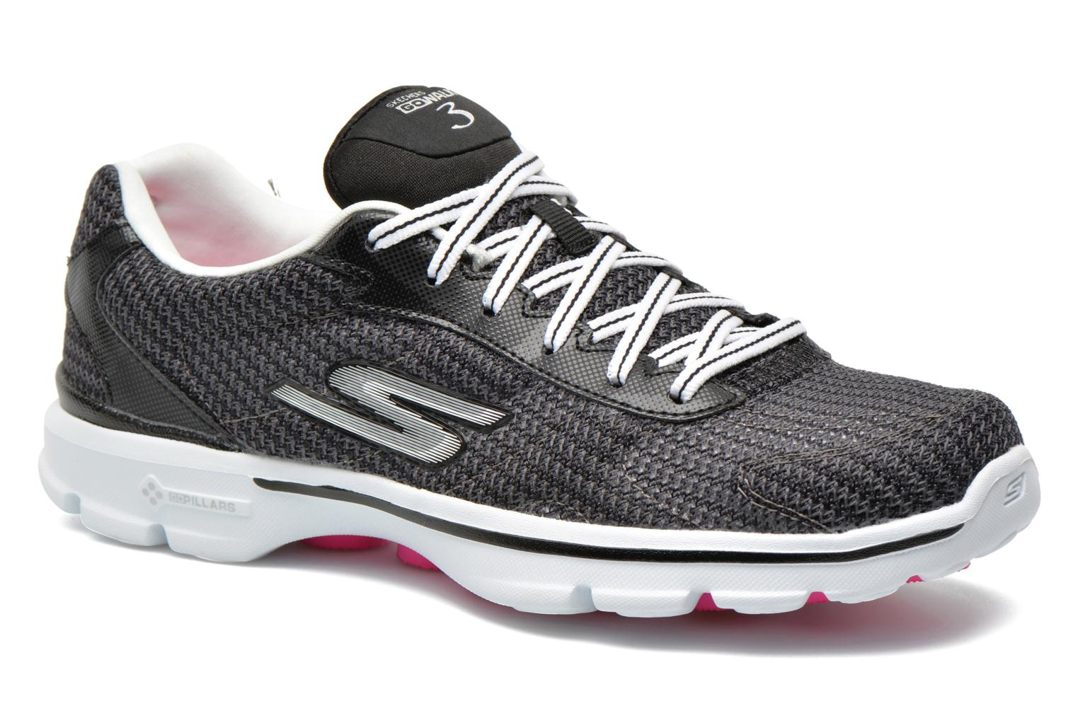 Sneakers Skechers Go Walk 3 FitKnit 13981 Zwart detail