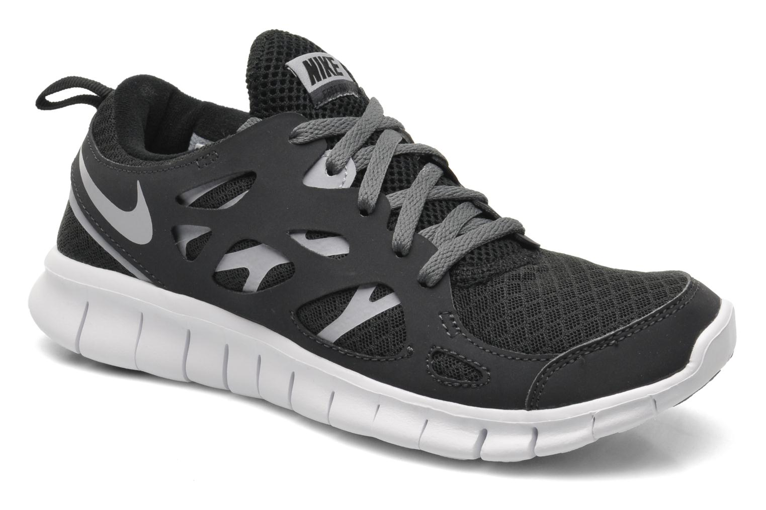 super popular cdc47 89608 Trainers Nike NIKE FREE RUN 2 (GS) Black detailed view Pair view ...