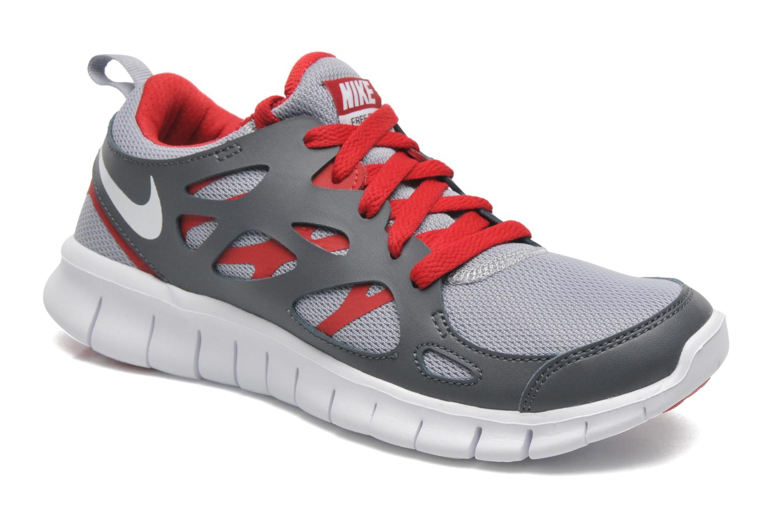 NIKE FREE RUN 2 (GS) WOLF GREY/WHITE-GYM RD-DRK GRY