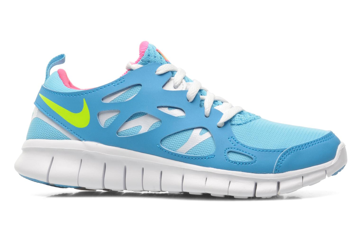 NIKE FREE RUN 2 (GS) CLEARWATER/VOLT-PNK POW-BL LGN