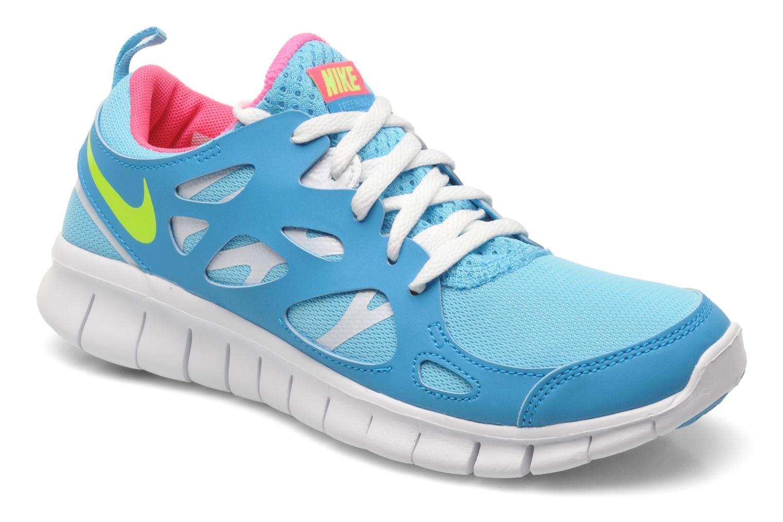 Baskets Nike NIKE FREE RUN 2 (GS) Bleu vue détail/paire