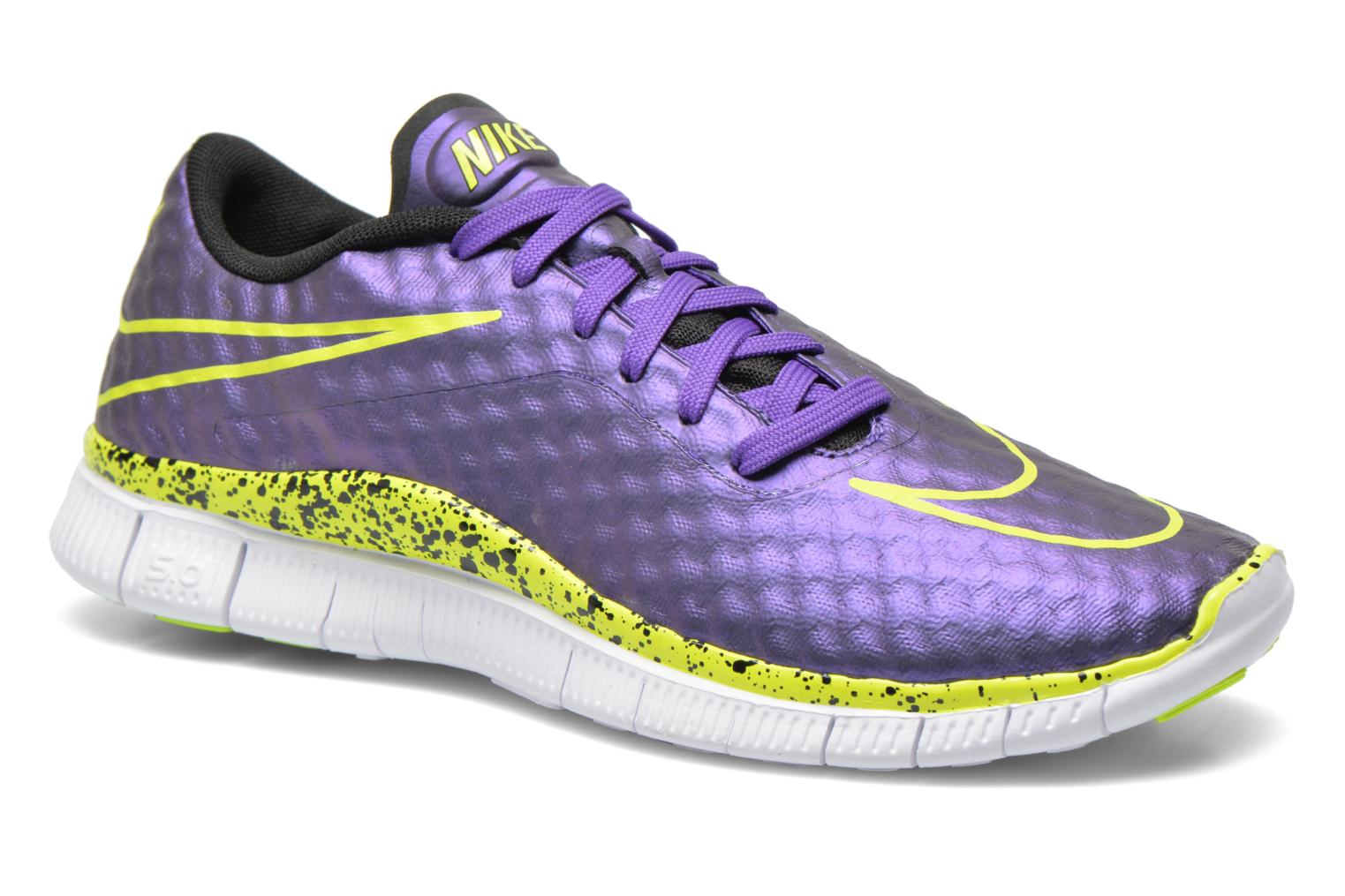 NIKE FREE HYPERVENOM (GS) Hyper Grape/Volt-Black-White