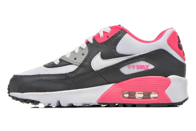 NIKE AIR MAX 90 MESH (GS) Anthracite White-Hyper Pink