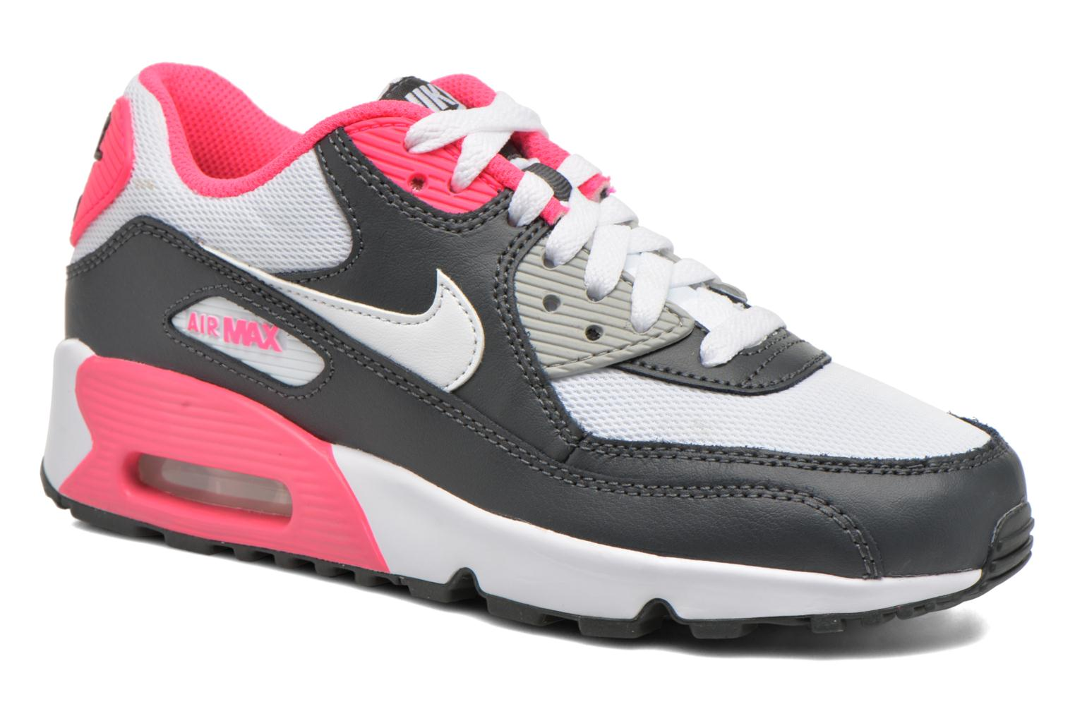 NIKE AIR MAX 90 MESH (GS) Anthracite White-Hyper Pink