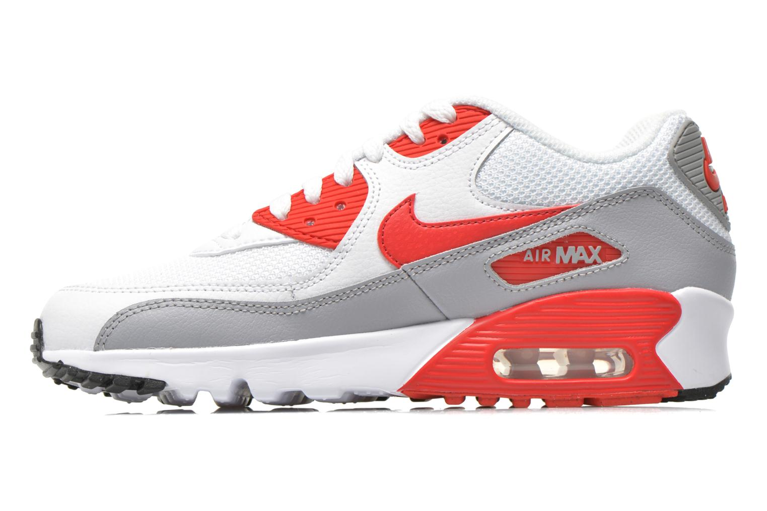 NIKE AIR MAX 90 MESH (GS) White Unvrsty Red-Wlf Gry-Blk