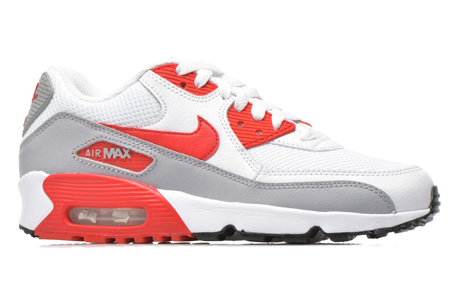 Trainers Nike NIKE AIR MAX 90 MESH (GS) White back view