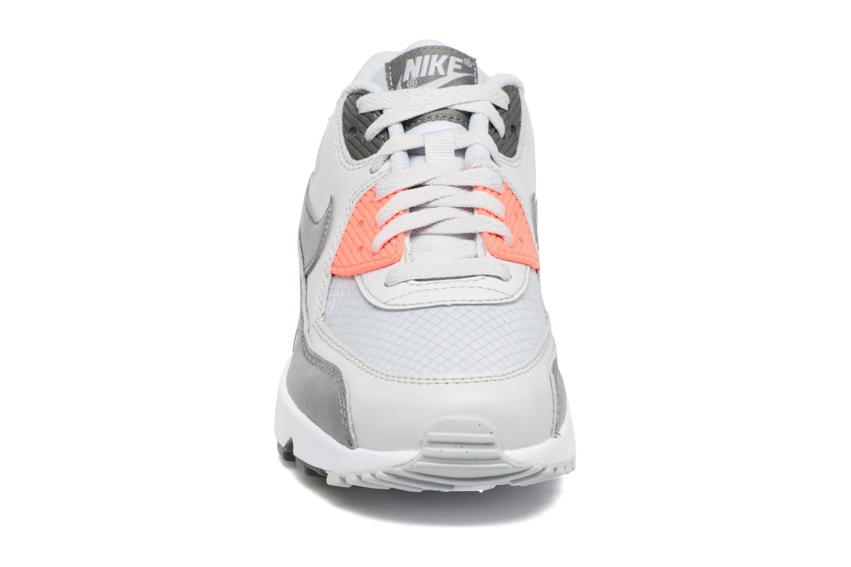 Sneaker Nike NIKE AIR MAX 90 MESH (GS) grau schuhe getragen