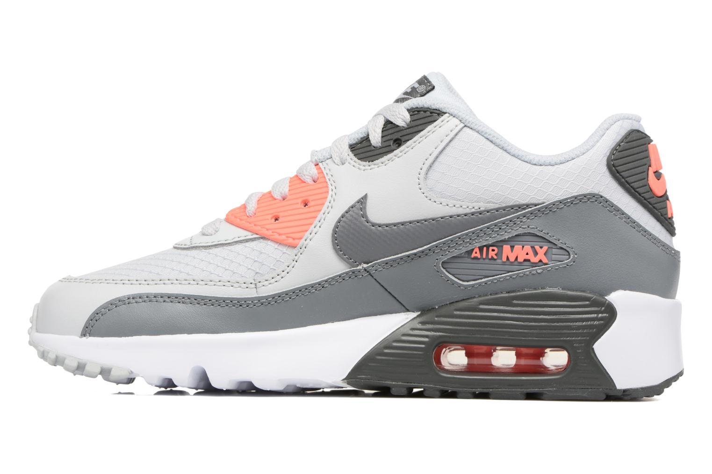 Sneaker Nike NIKE AIR MAX 90 MESH (GS) grau ansicht von vorne
