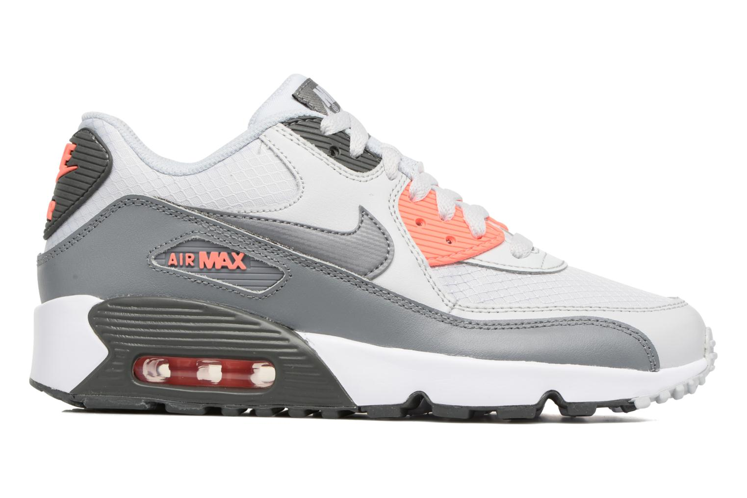 Trainers Nike NIKE AIR MAX 90 MESH (GS) Grey back view