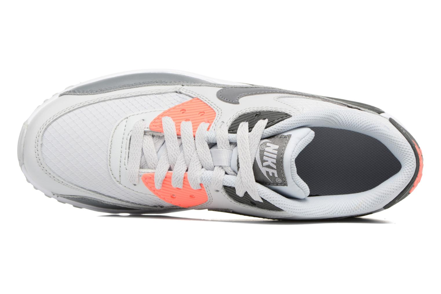 NIKE AIR MAX 90 MESH (GS) Pure Platinum/Cool Grey-Lava Glow-White