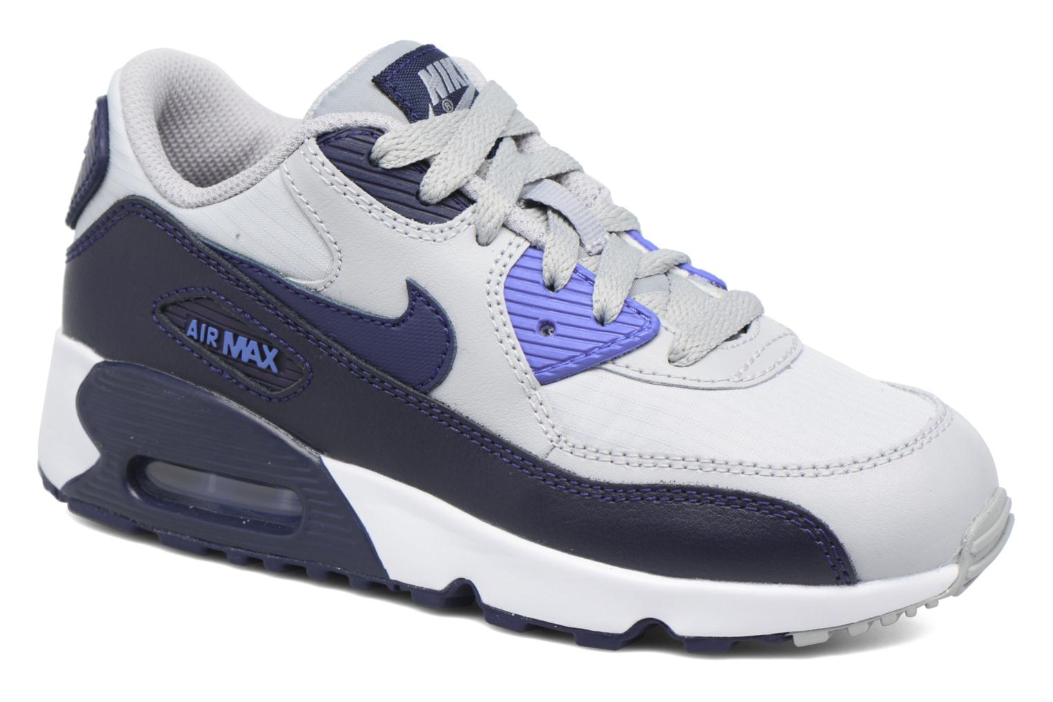 NIKE AIR MAX 90 MESH (PS) Wolf GreyBinary Blue-Comet Blue-White