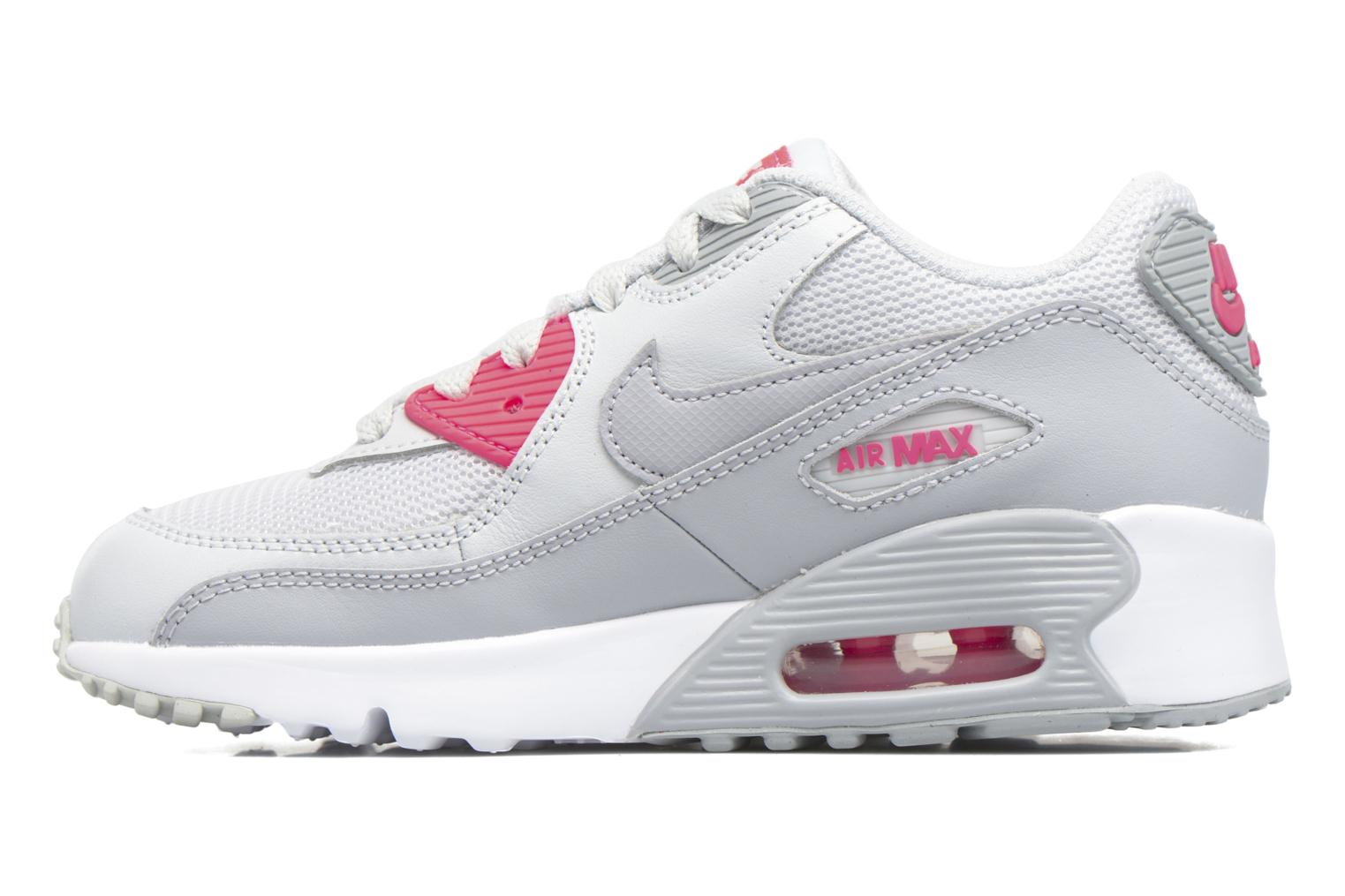 NIKE AIR MAX 90 MESH (PS) Pure Platinum/Wolf Grey-Racer Pink-White