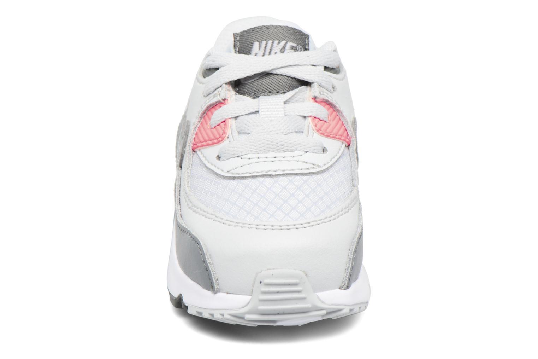 NIKE AIR MAX 90 MESH (TD) Pure Platinum/Cool Grey-Lava Glow-White