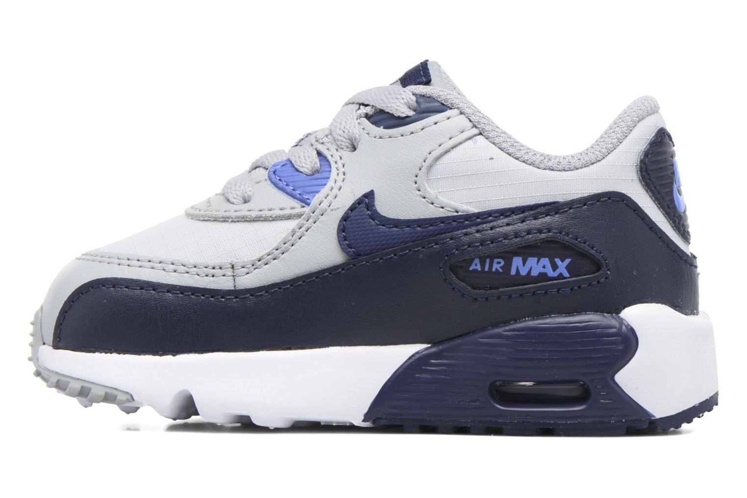 Trainers Nike NIKE AIR MAX 90 MESH (TD) Grey front view