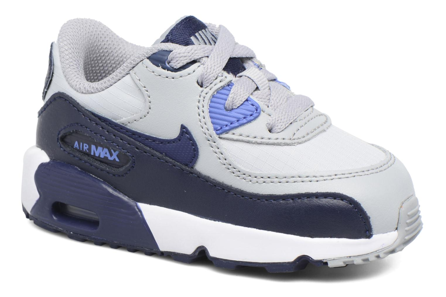 NIKE AIR MAX 90 MESH (TD) Wolf Grey/Binary Blue-Comet Blue-White