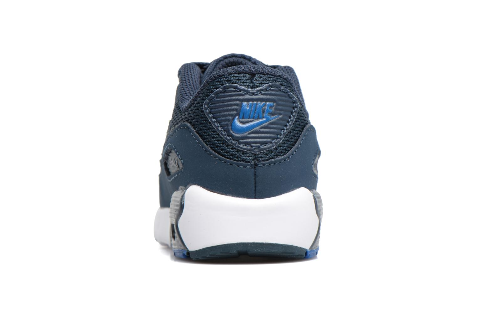 Trainers Nike NIKE AIR MAX 90 MESH (TD) Blue view from the right
