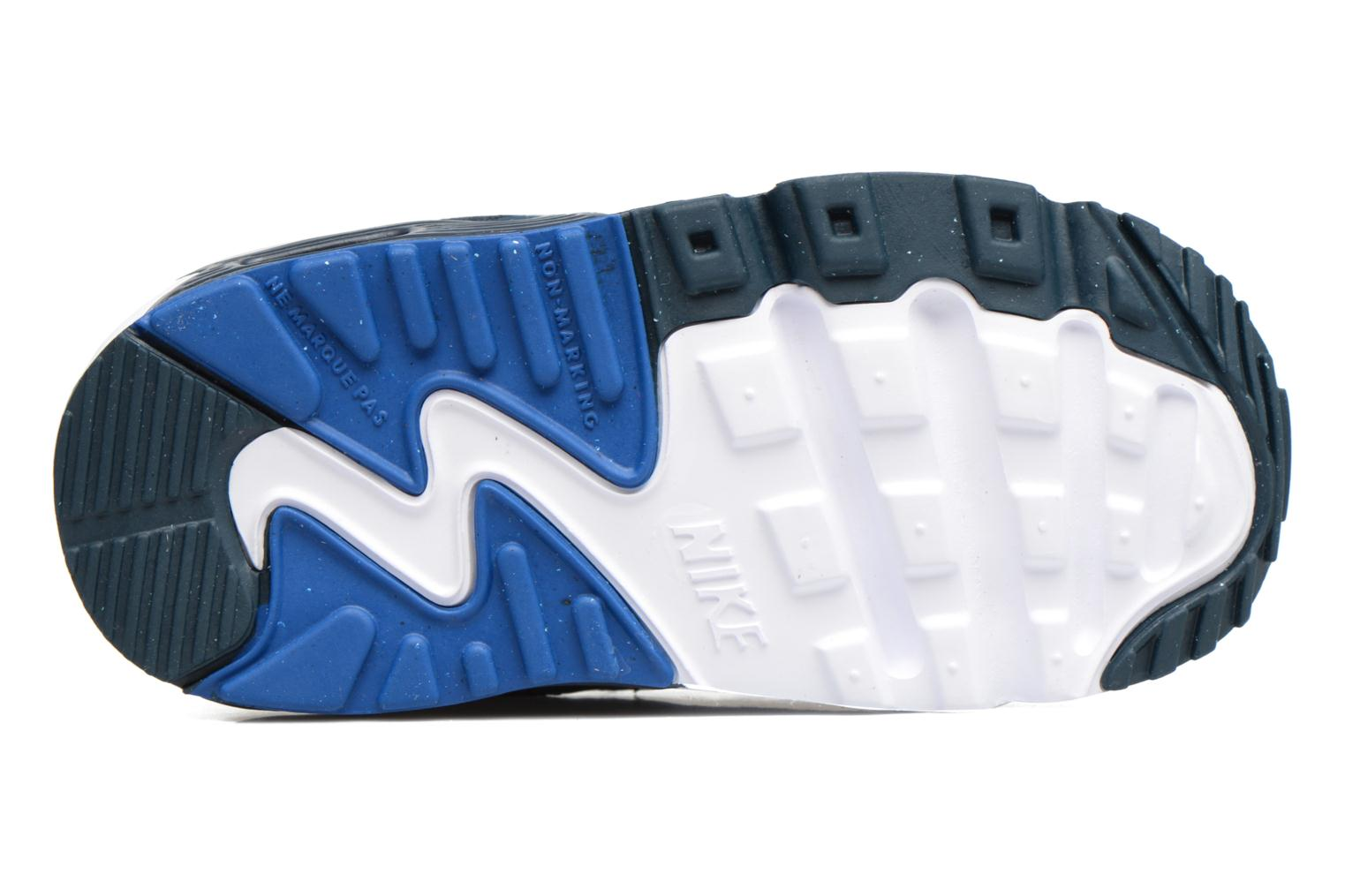 Trainers Nike NIKE AIR MAX 90 MESH (TD) Blue view from above