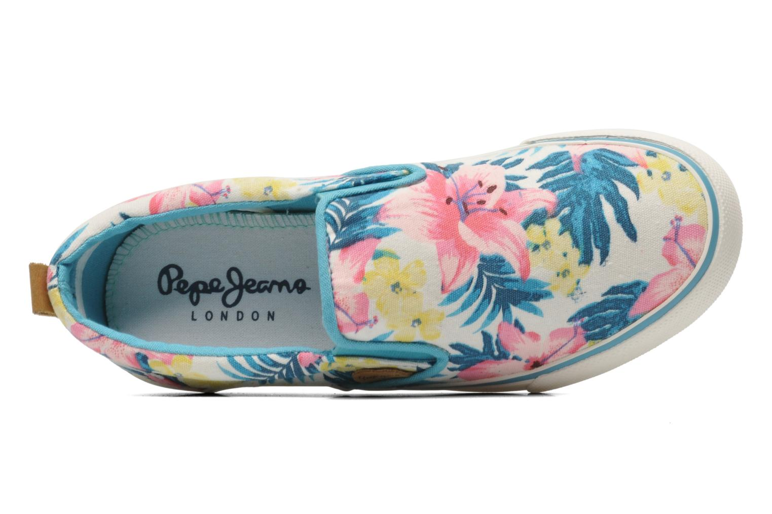 Trainers Pepe jeans Traveler Multicolor view from the left