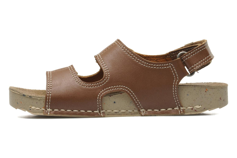 Sandales et nu-pieds Art A420 Play Marron vue face