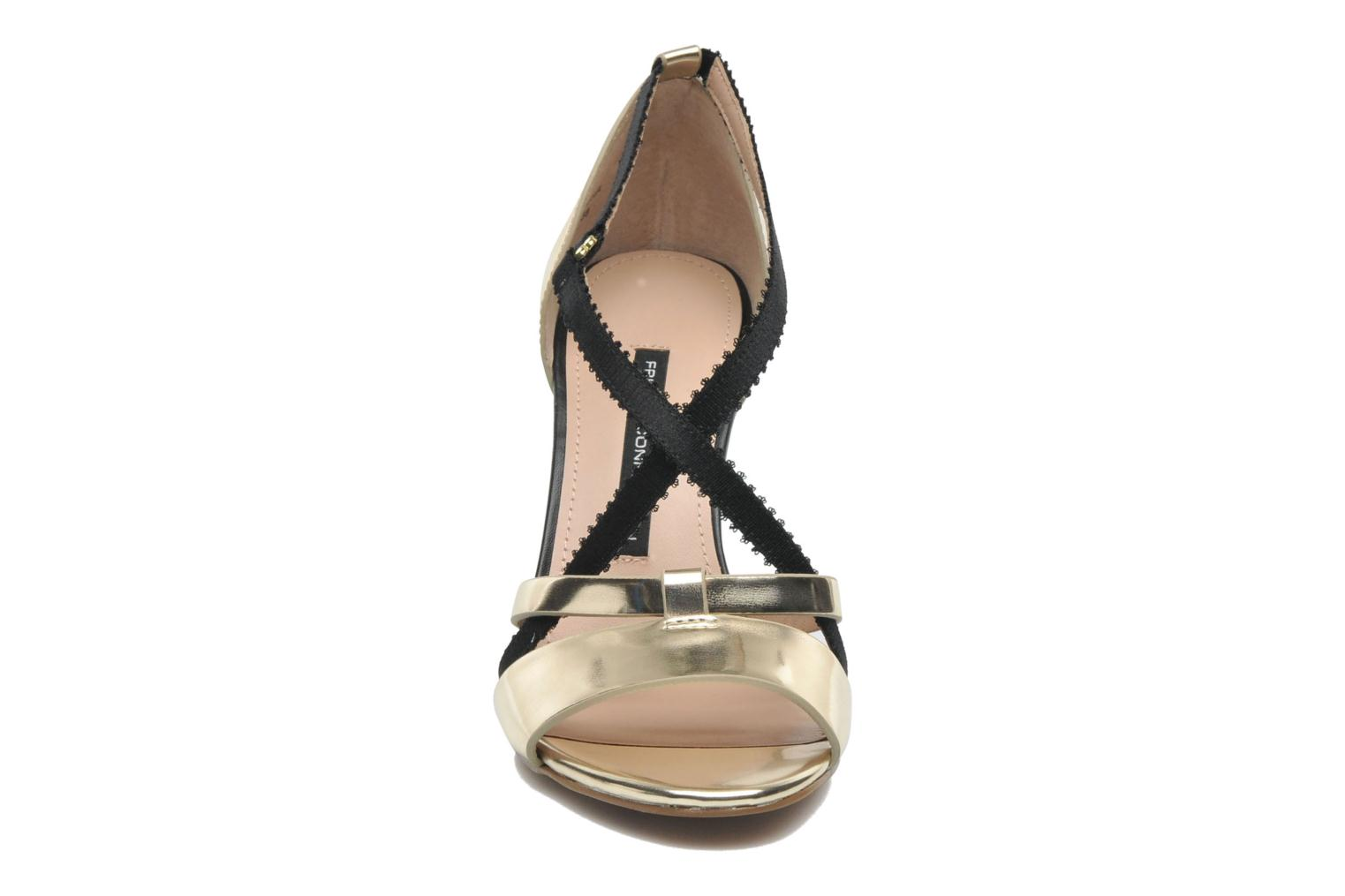 Sandals French Connection Nava Bronze and Gold model view