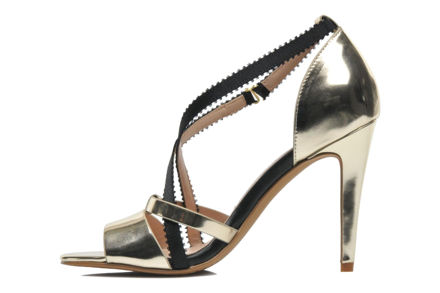 Sandals French Connection Nava Bronze and Gold front view