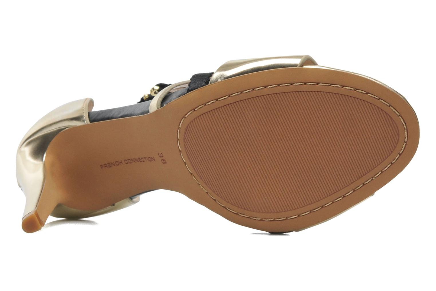 Sandals French Connection Nava Bronze and Gold view from above