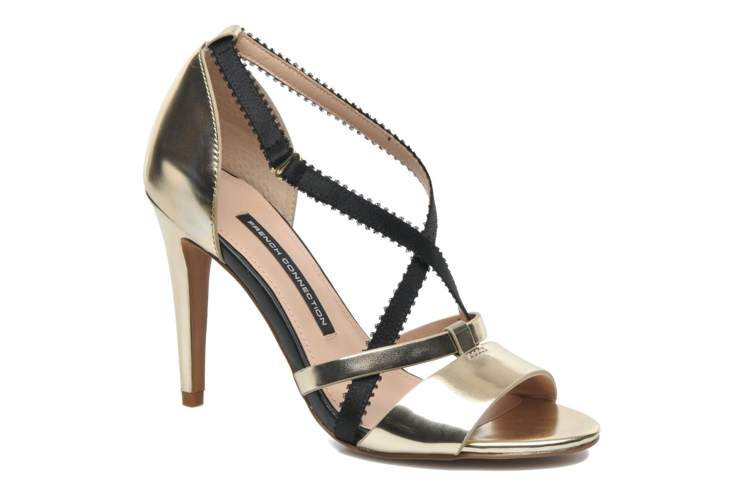 Sandals French Connection Nava Bronze and Gold detailed view/ Pair view