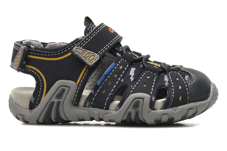 Sandalen Geox B SAND.KRAZE A - DBK+LYCRA blau ansicht von hinten
