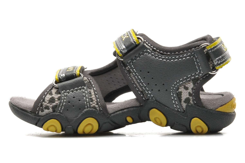 Sandales et nu-pieds Geox B SAND.STRIKE A - MESH+DBK Gris vue face