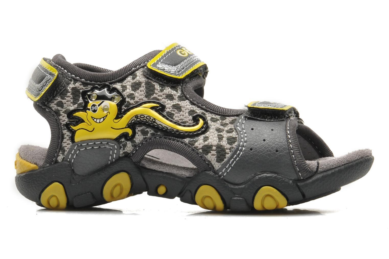 Sandales et nu-pieds Geox B SAND.STRIKE A - MESH+DBK Gris vue derrière