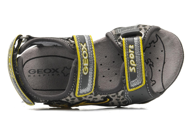 Sandales et nu-pieds Geox B SAND.STRIKE A - MESH+DBK Gris vue gauche
