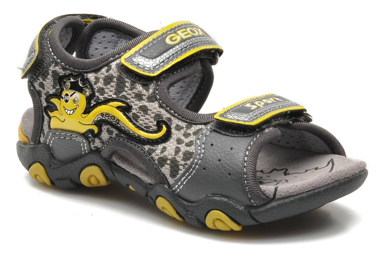 Sandales et nu-pieds Geox B SAND.STRIKE A - MESH+DBK Gris vue détail/paire