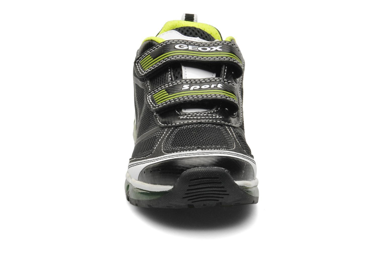 Baskets Geox J ANDROID B. B - MESH+DBK STAM Noir vue portées chaussures