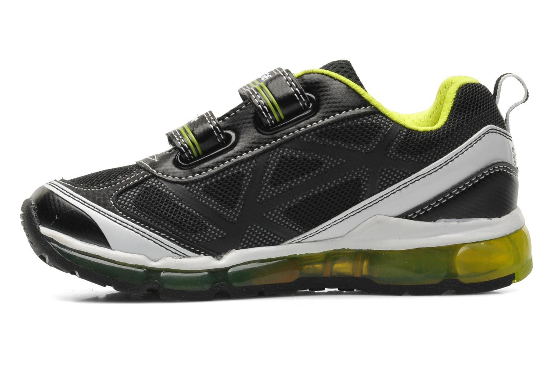 Sneakers Geox J ANDROID B. B - MESH+DBK STAM Zwart voorkant