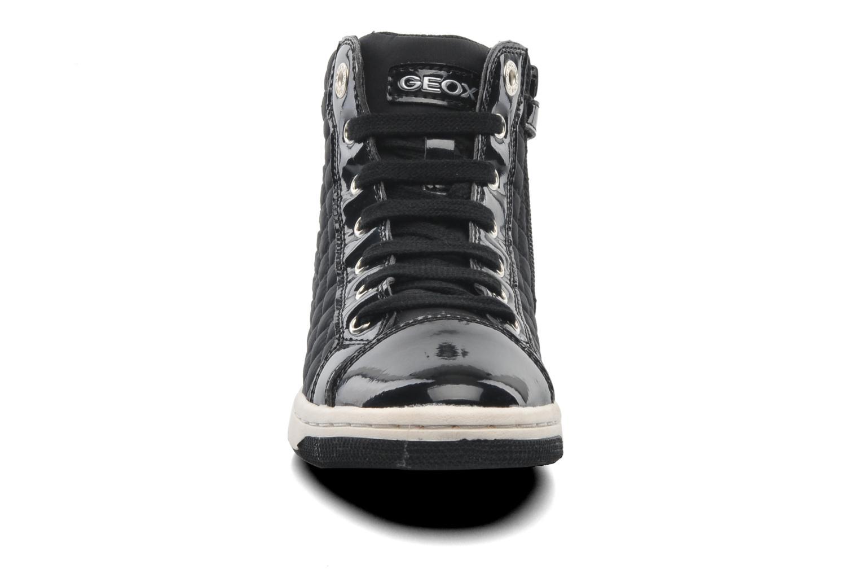 Sneaker Geox J CREAMY A - NYLON+VERN.SINT. schwarz schuhe getragen