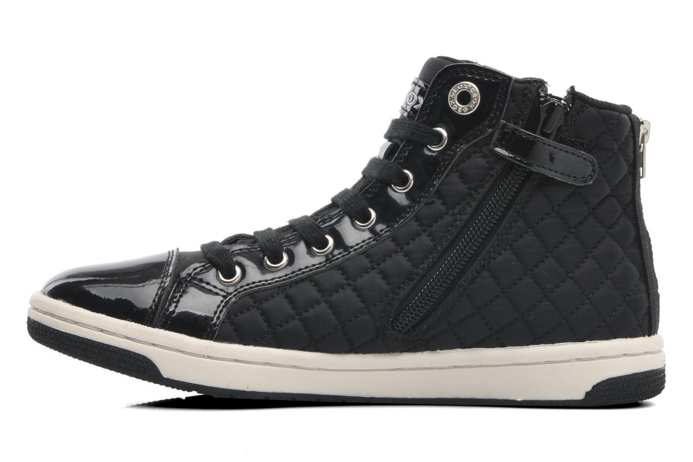 Sneaker Geox J CREAMY A - NYLON+VERN.SINT. schwarz ansicht von vorne