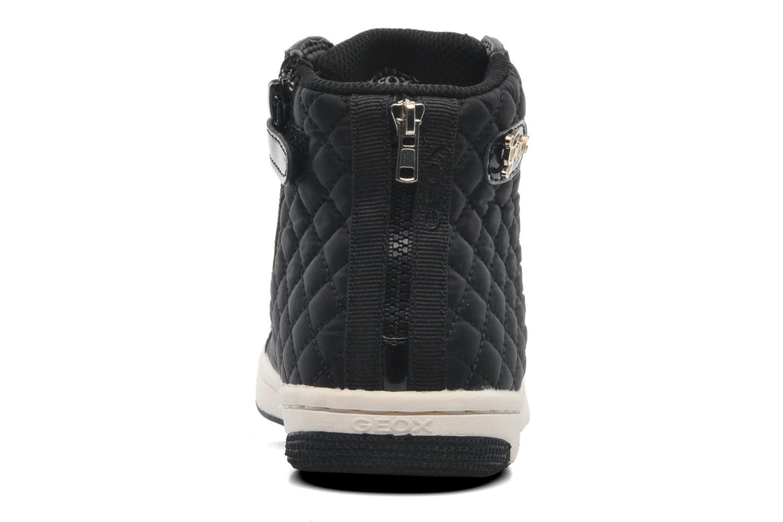 Sneaker Geox J CREAMY A - NYLON+VERN.SINT. schwarz ansicht von rechts